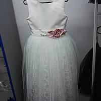 Изысканное платье для юных леди, с украшениями на поясе, все размеры до 14 лет