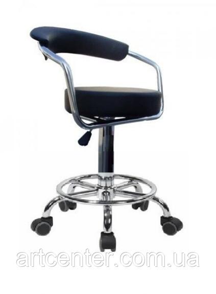 Стул для визажиста черный, барный стул, стул для кассира, администратора (МАРСЕЛЬ Р черный)