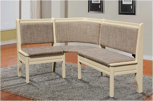 Комплект Семейный (уголок + стол + 3 табурета) Слоновая кость/Берлин 03 (Микс-Мебель ТМ)