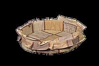 Лежак (лежанка) для кошек и собак (с рюшей) Мур-Мяу №2 Бежевый