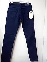 Штани джинси дівч. Altun 2937, 134 утеп. т.синій