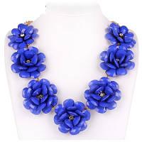 """Ожерелье """"Синие цветы"""""""