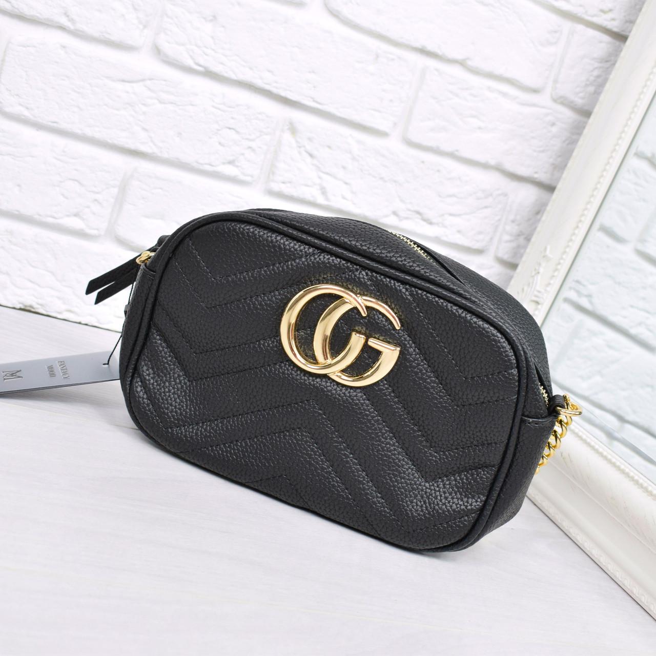 Женская сумка Gucci черная 1013, сумка через плечо  продажа, цена в ... 48691ae1e5e