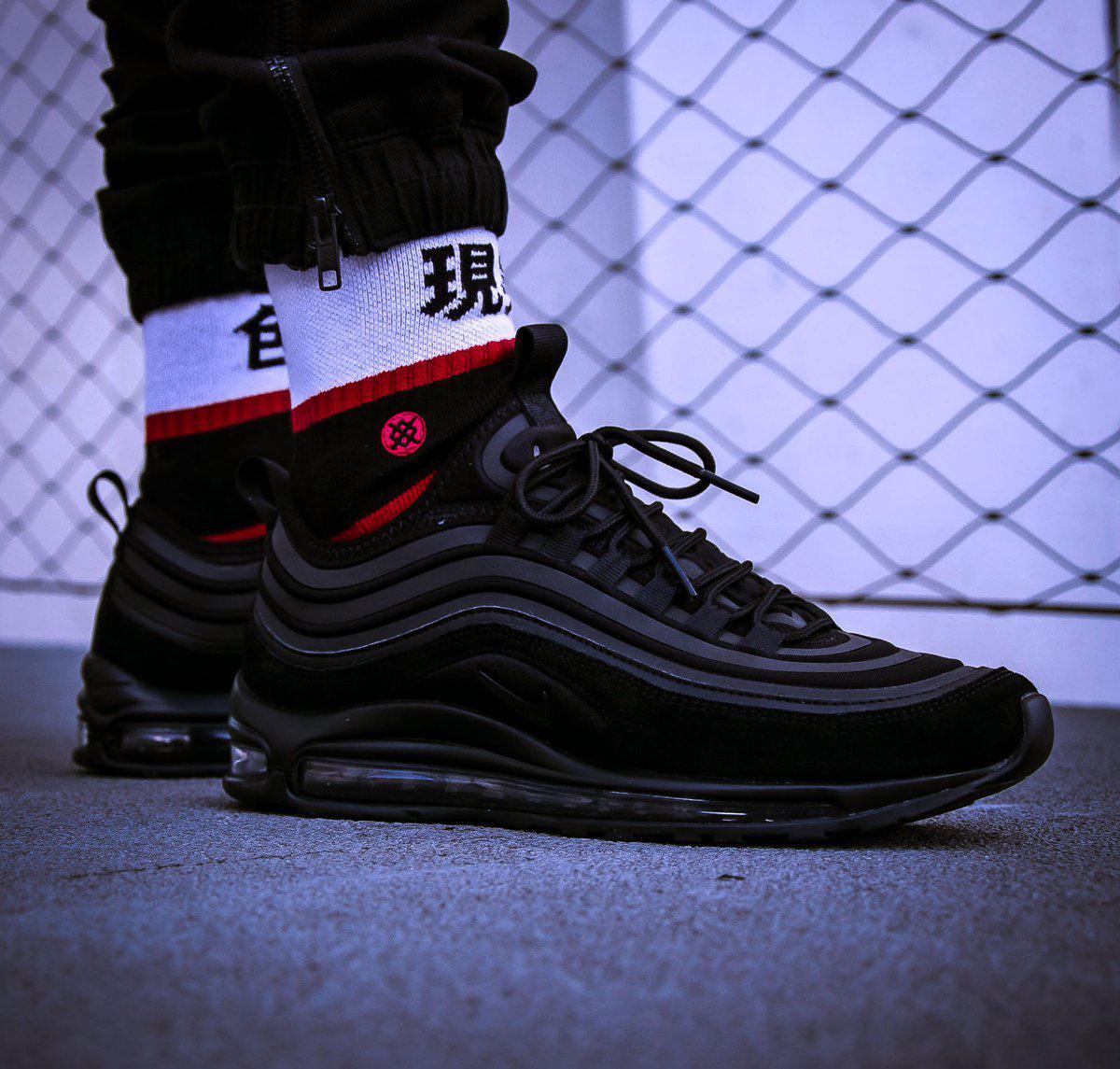 "Кроссовки Nike Air Max 97 SE ""Black"". Рефлективные."