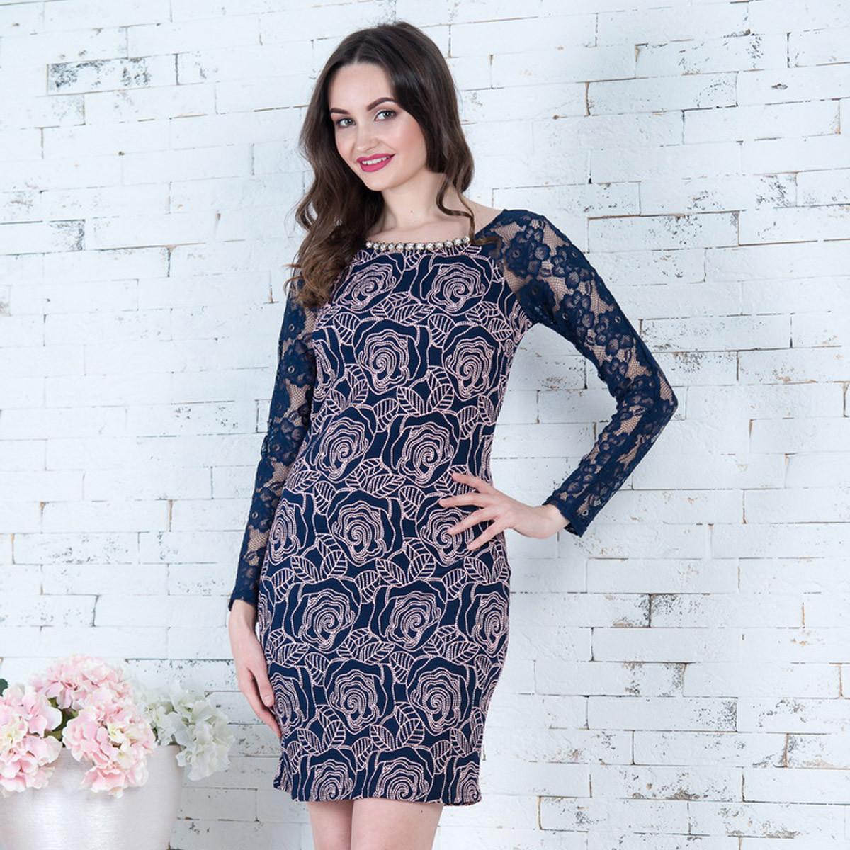 """Нарядное платье короткое с рукавом """"Сильвия"""""""