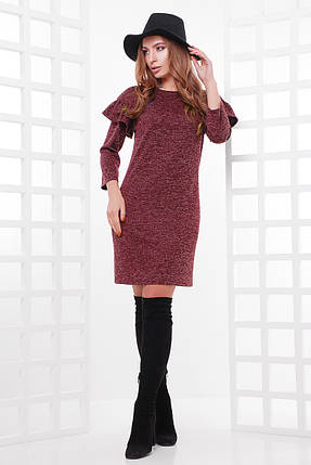 Стильное платье из ангоры с люрексовой нитью, фото 2