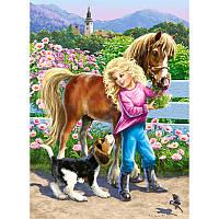 "Пазлы Castorland 60 эл. 06755 ""Прогулка с пони"""