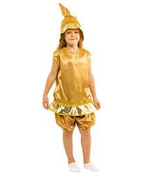 Карнавальный костюм КОЛОКОЛЬЧИК (ЗВОНОЧЕК) детский 4,5,6,7,8,9 лет, детский маскарадный костюм