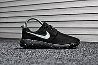 Nike Roshe Run Black / White  (Реплика)