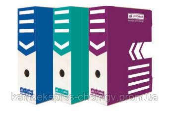 Короб архивный Buromax BM3261,картон,10см в ассорт.