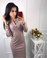 Демисезонное платье с длинным рукавом