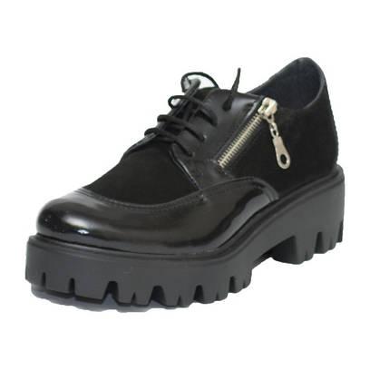 Туфли женские на тракторной подошве 232