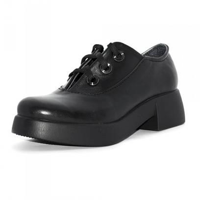 Туфли женские на шнурках 6010