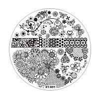 Пластиковый диск для стемпинга, белый, XY-Q01