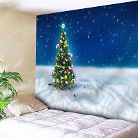 Рождество Дерево Стены Искусства Гобелен Спальня ширина79дюймов*длина59дюймов