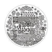 Пластиковый диск для стемпинга, белый, XY-Q02