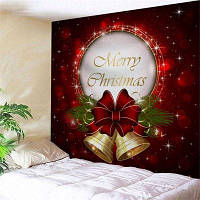 Настенный Арт-Декор Рождественские Колокола Печати Гобелен W59дюйм*L59дюйм
