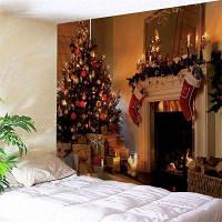 Настенный Гобелен Рождества С Принтом W91 дюйм * L71 дюйм