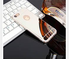 Чехол Apple Iphone 6 / 6S силикон TPU зеркальный металлик