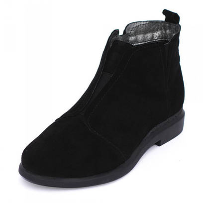 Ботинки замшевые на резинке 7213