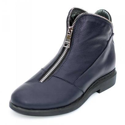 Ботинки кожаные на молнии 7906