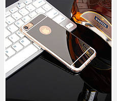 Чехол Apple Iphone 6 / 6S силикон TPU зеркальный темный металлик