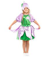 Карнавальный костюм КОЛОКОЛЬЧИК (ДЮЙМОВОЧКА) на 4,5,6,7,8,9 лет, детский маскарадный костюм ДЮЙМОВОЧКИ цветок
