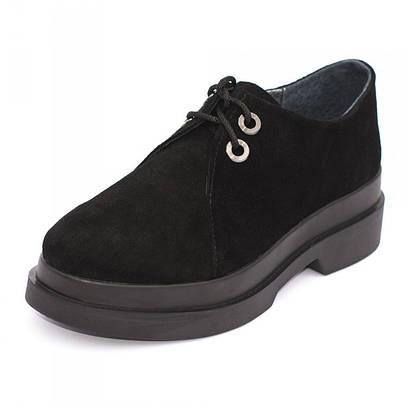 Туфли замшевые на платформе 8123