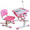 Стол и стул для детей, регулируется высота и угол наклона + лампа,2 цвета