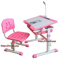 Стол и стул для детей, регулируется высота и угол наклона + лампа,2 цвета, фото 1