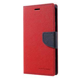 Чехол книжка для Samsung Galaxy J7 2017 J730 боковой с отсеком для визиток, Mercury GOOSPERY, Красный