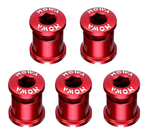 Бонки шатунов MOWA, алюминиевые, красные, 5 шт