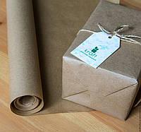 Крафт папір пакувальний, без друку,Ширина 20см.Длина рулона 49м. щільність 38 грам / м2., фото 1