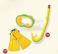 Набор для плавания маска, трубка и ласты Intex