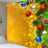 Свет Рождества Pattern Водонепроницаемый Стене Висит Гобелен W91 дюйм * L71 дюйм
