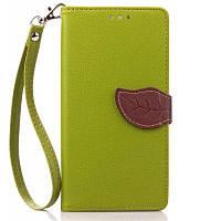 Любви лист карточки удостоверения личности PU кожаный чехол для Lenovo K3 Примечание Зелёный