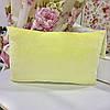Детская декортивная подушка 40х26 велюр лимонный, фланель звезды: съемная наволочка, наполнитель холлофайбер