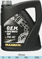 Моторное масло Mannol O.E.M. for Daewoo GM SAE 5W-40 A3/B4 4 л