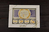 """Шоколадный набор конфет """"З найкращими побажаннями до 8 березня цветной, фото 1"""