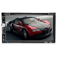 Универсальный 7 дюймовый 2 DIN HD Bluetooth DVD плеер для автомобиля Чёрный