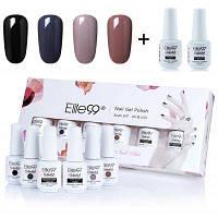 4 глубоких цветов Elite99 УФ LED замочить off гель лак для ногтей набор 01#
