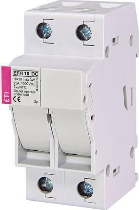 Разъединитель ETI EFH 10 2P-LED 25A 1000V DC, фото 2