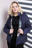 Женская двусторонняя куртка больших размеров Пикассо 641 / размер 50,52,54,56,66,68 / цвет синий