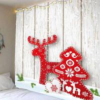Рождественская Елка Лося Картина Стены Искусства Вися Гобелен ширина59дюймов*длина51дюйм