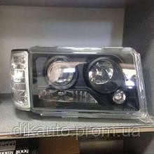 Фары Mercedes W124 black до 93г
