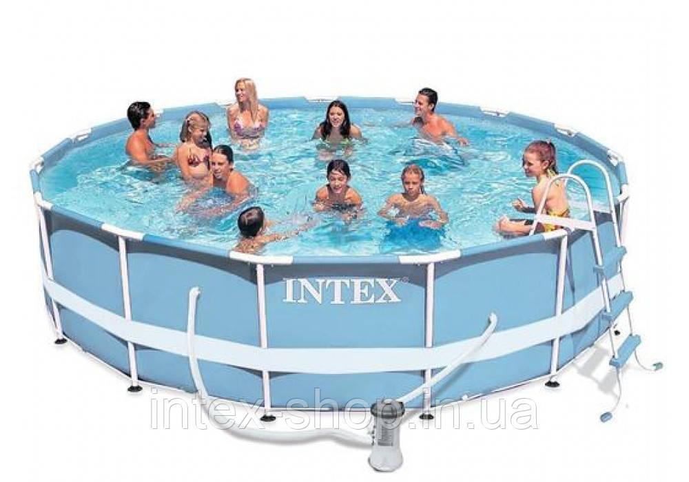 Каркасный бассейн 366х99см + аксессуары intex 28718