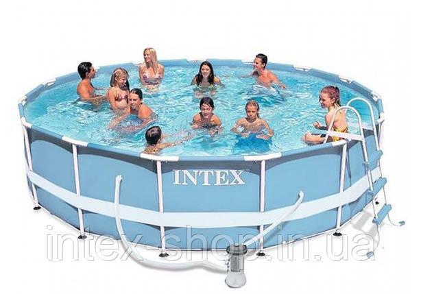 Каркасный бассейн 366х99см + аксессуары intex 28718, фото 2