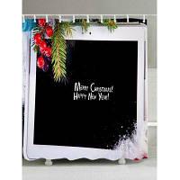Рождество Планшетный Компьютер Печать Ткань Водонепроницаемый Занавески Для Душа W59 дюймов * L71 дюймов