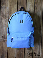 Рюкзак, портфель, сумка Fred Perry (голубой), Реплика