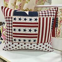 "Декоративная подушка ""Америка"" 45х45: съемная наволочка, наполнитель холлофайбер, фото 1"